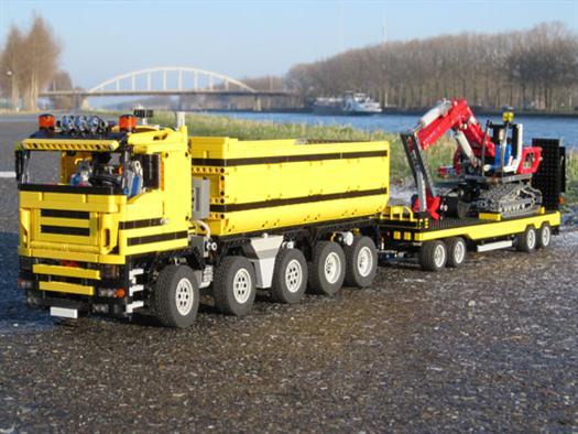 Lego Escavtor And Dump Truck Instructions
